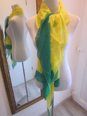 Tusch Schal Gelb Grün