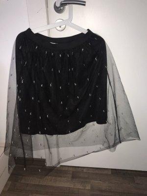 Koton Tulle Skirt black-silver-colored