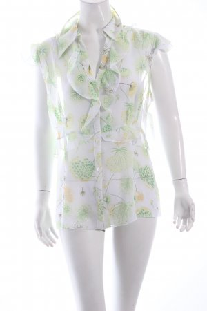 Tuzzi ärmellose Bluse florales Muster Beach-Look
