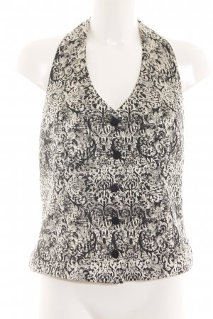 Tuzzi Waistcoat natural white-black abstract pattern vintage look