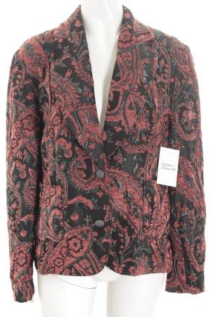 Tuzzi Blazer schwarz-dunkelrot florales Muster extravaganter Stil