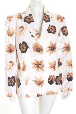 Tuzzi Blazer weiß Blumenmuster Casual-Look