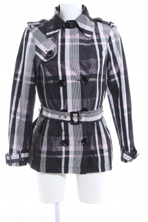 Tuzzi Pea Jacket check pattern casual look