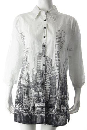 Tuzzi Hemd-Bluse schwarz-weiß grafisches Muster Street-Fashion-Look