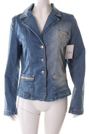 Tuzzi Blazer en jean bleu-turquoise style décontracté