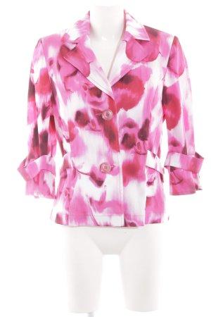 Tuzzi Jerseyblazer weiß-pink abstraktes Muster Elegant