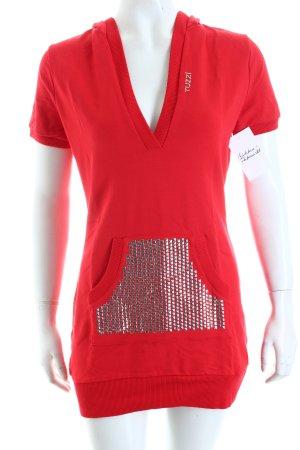 Tuzzi Kapuzenshirt rot-weiß sportlicher Stil