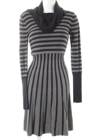 Tuzzi Langarmkleid grau-schwarz Streifenmuster Casual-Look