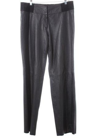 Tuzzi Lederhose dunkelbraun-schwarzbraun extravaganter Stil