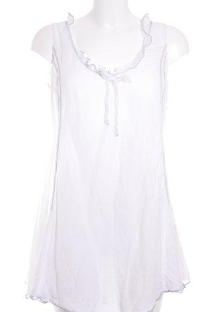 Tuzzi Longshirt weiß-silberfarben Romantik-Look