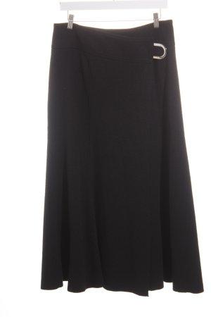 Tuzzi Maxirock schwarz-silberfarben extravaganter Stil