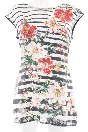 Tuzzi Minikleid weiß-schwarz florales Muster Casual-Look