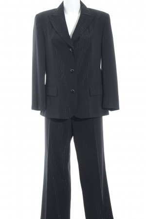 Tuzzi Pinstripe Suit black-silver-colored pinstripe business style