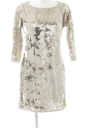 Tuzzi Vestido de lentejuelas beige claro-nude estampado con diseño abstracto