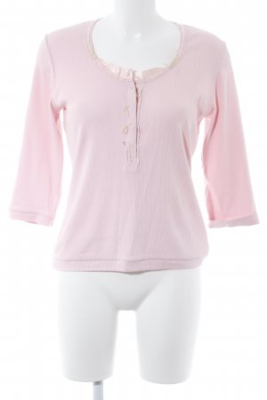 Tuzzi Ribbed Shirt cream-pink casual look