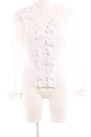 Tuzzi Rüschen-Bluse weiß Elegant