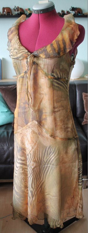 Tuzzi Robe mi-longue bronze soie