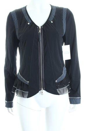 Tuzzi Shirtjacke schwarz-weiß Streifenmuster Lagen-Look