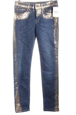 Tuzzi Slim Jeans dunkelblau-roségoldfarben Casual-Look
