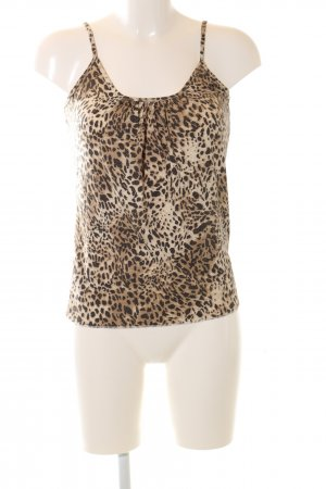 Tuzzi Spaghetti Strap Top cream-brown leopard pattern casual look
