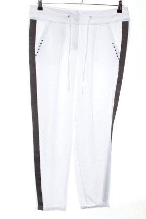Tuzzi Stoffhose weiß-schwarz Casual-Look