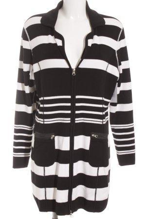 Tuzzi Strickjacke schwarz-weiß Streifenmuster Casual-Look