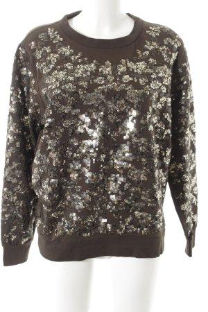 Tuzzi Sweatshirt dunkelgrün-goldfarben extravaganter Stil