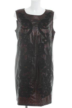 Tuzzi Trägerkleid schwarz-rot florales Muster Casual-Look