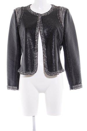 Tuzzi Tweed blazer zwart casual uitstraling