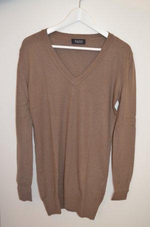 TUZZI * V-Neck Pullover * Größe 36 * Kaschmir-Seiden-Mix