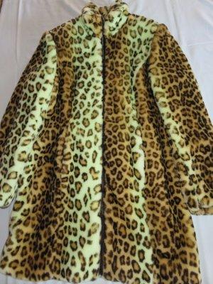 Tuzzi Webpelzmantel / Neu !! Grünlicher Leopard / NP 369 EUR !!