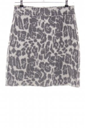 Tuzzi Wool Skirt natural white-silver-colored leopard pattern casual look