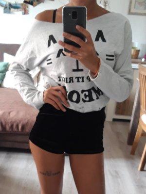 TW Pullover Schulterfrei Weiß Größe M