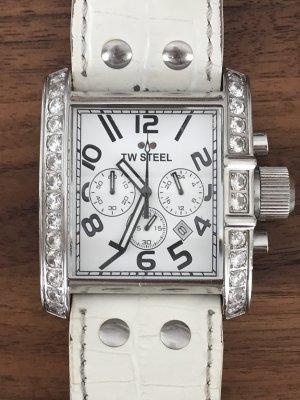 TW Steel Uhr silber-weiß mit Straßsteinen