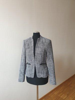 Tweed Blazer in dunkelblau