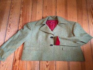 Tweed Blazer mit Samtapplikationen