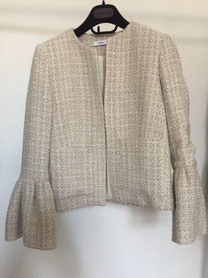 Tweed Blazer mit Volantärmeln