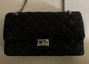 Tweed double flap bag