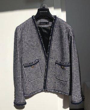 Tweed Jäckchen blau / weiß