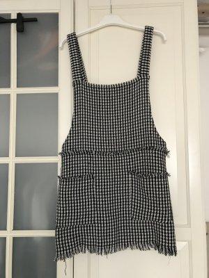 Zara Robe courte noir-blanc