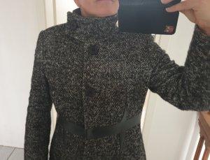 no name Abrigo de lana negro-gris
