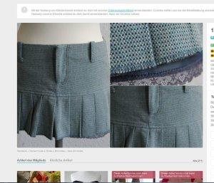 Tweed Mini Zara mit Spitzensaum