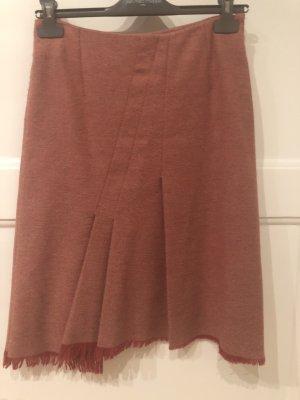 Comptoir des Cotonniers Jupe en tweed rouge carmin-blanc cassé