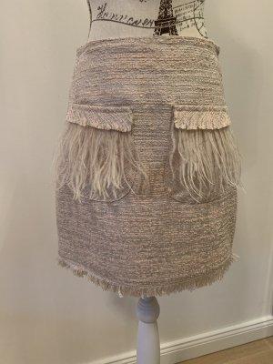 Tweed-Rock mit Federn