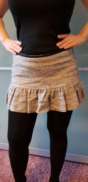 Tweed rok veelkleurig Gemengd weefsel