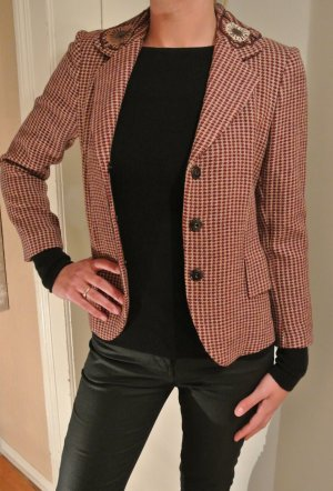 Blazer en laine brun rouge-rouge carmin laine