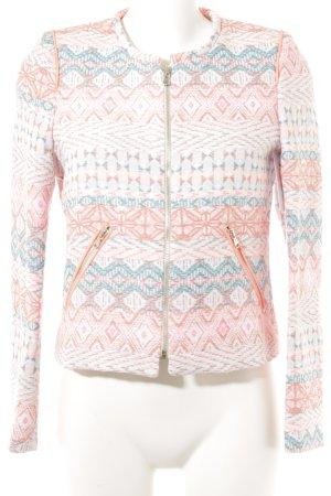 Tweed blazer Azteken patroon casual uitstraling