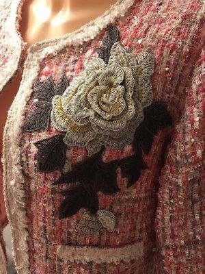 Tweed blazer veelkleurig Polyester