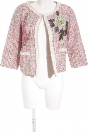 Tweedblazer Karomuster extravaganter Stil