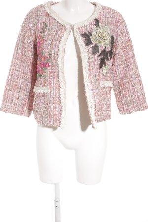 Tweed blazer geruite print extravagante stijl